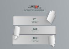 Weißbuch 3d Infographics-Design Lizenzfreie Stockbilder