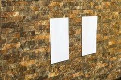 Weißbuch in einer Wand lizenzfreie stockfotografie