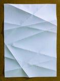 Weißbuch mit Falte lizenzfreie stockfotografie