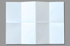 Weißbuch mit Falten lizenzfreie stockfotografie