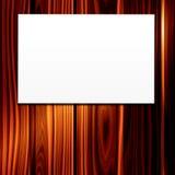 Weißbuch-Zeichen auf Holz Lizenzfreies Stockbild