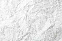Weißbuchbeschaffenheitspapierblatt zurück geknittert Stockbild