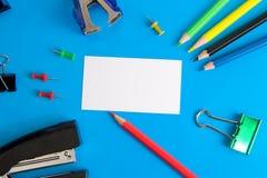 Weißbuchkarte und -briefpapier Lizenzfreies Stockbild