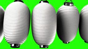 Weißbuchlaternen auf grünem Farbenreinheitsschlüssel vektor abbildung
