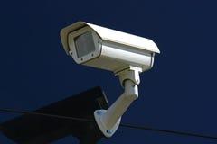 Weiße Überwachungskamera Stockbild