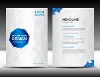 Weiße Abdeckungs-Jahresberichtdesign-Vektorillustration Stockbilder