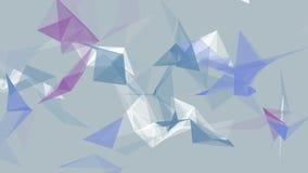 Weiße abstrakte Technologie und Technik winken Hintergrund mit Plexuselementen zu Nahtlose Schleife