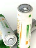 Weiße alkalische Batterie Lizenzfreies Stockfoto