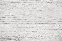 Weiße alte Alternbacksteinmauer für Hintergrund, Beschaffenheit Lizenzfreies Stockbild