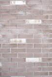 Weiße alte Backsteinmauer für den Hintergrund Stockbild