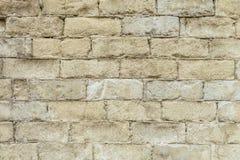 Weiße alte Backsteinmauerbeschaffenheit Lizenzfreie Stockfotografie