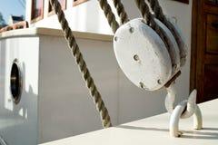 Weiße alte Seilrolle Lizenzfreies Stockbild