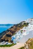 Weiße Architektur auf Santorini-Insel, Griechenland Lizenzfreie Stockfotografie
