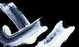 Weiße ausdrucksvolle Bürstenanschläge für die kreativen, innovativen, interessanten Hintergründe in der Zenart Stockbild