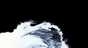 Weiße ausdrucksvolle Bürstenanschläge für die kreativen, innovativen, interessanten Hintergründe in der Zenart Lizenzfreie Stockbilder