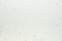 Weiße Büttenpapierbeschaffenheit Stockbild