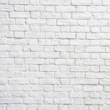 Weiße Backsteinmauer stockfotografie