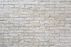Weiße Backsteinmauer Lizenzfreies Stockfoto