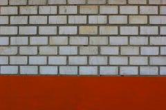 Weiße Backsteinmauer Stockfotos