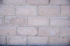 Weiße Backsteinmauer Stockbilder