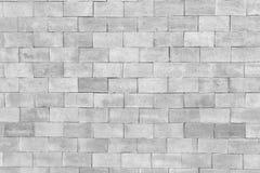 Weiße Backsteinmauer in der Dekorationsarchitektur für das Design backg Lizenzfreie Stockfotografie