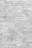 Weiße Backsteinmauer in der Dekorationsarchitektur für das Design backg Stockbild