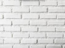 Weiße Backsteinmauer für Hintergrund Lizenzfreies Stockfoto