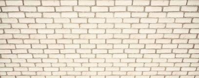 Weiße Backsteinmauer für Hintergrund Beschneidungspfad eingeschlossen Die Beschaffenheit des gemalten Ziegelsteines Lizenzfreies Stockfoto