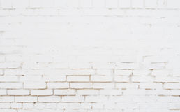 Weiße Backsteinmauerbeschaffenheit Stockfoto