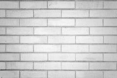 Weiße Backsteinmauerbeschaffenheit für Hintergrund Lizenzfreies Stockbild