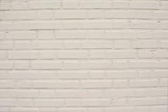 Weiße Backsteinmauerbeschaffenheit für Hintergrund Stockfotografie