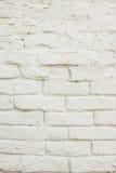 Weiße Backsteinmauerbeschaffenheit für Hintergrund Stockbilder