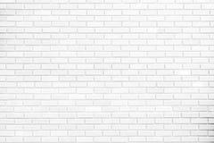 Weiße Backsteinmauern und Plankenboden Ideen für die Innen- und Außendekorationskonzepte von Einfachheitsmöbeln Stockfotografie