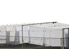 Weiße Baumwolle bedeckt Trockner Stockfotos