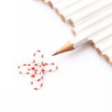 Weiße Bleistifte Stockfoto