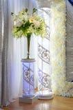 Weiße Blumen-Dekorationen Stockfoto