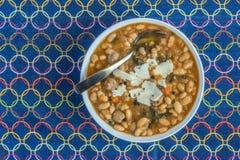 Weiße Bohnensuppe Stockfoto
