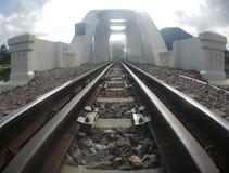 Weiße Brücke Stockfoto