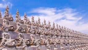 Weiße Buddha-Linie Lizenzfreie Stockfotografie