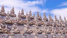Weiße Buddha-Linie Lizenzfreies Stockfoto