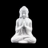 Weiße Buddha-Statuette Stockbilder