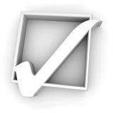 Weiße Checkmarkierung Lizenzfreie Stockbilder