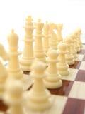 Weiße Chess-men Lizenzfreie Stockfotografie