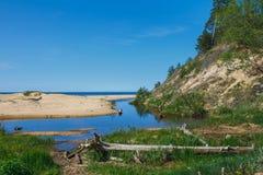 Weiße Düne in Saulkrasti, Lettland stockbild