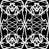 Weiße dünne Linie nahtloses Muster der Weinlese Stockfotografie