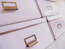 Weiße Datei-Staplungskästen Stockbilder