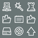 Weiße Datenweb-Ikonen Lizenzfreies Stockbild