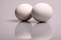Weiße Eier Lizenzfreies Stockbild