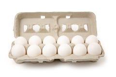 Weiße Eier Lizenzfreie Stockfotos