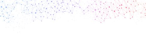 Weiße Fahne der globalen Kommunikation mit buntem Netz lizenzfreie abbildung